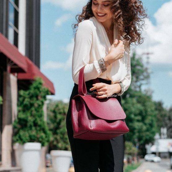 Магазин сумок Vezze Кожаная женская сумка C00515 - фото 1