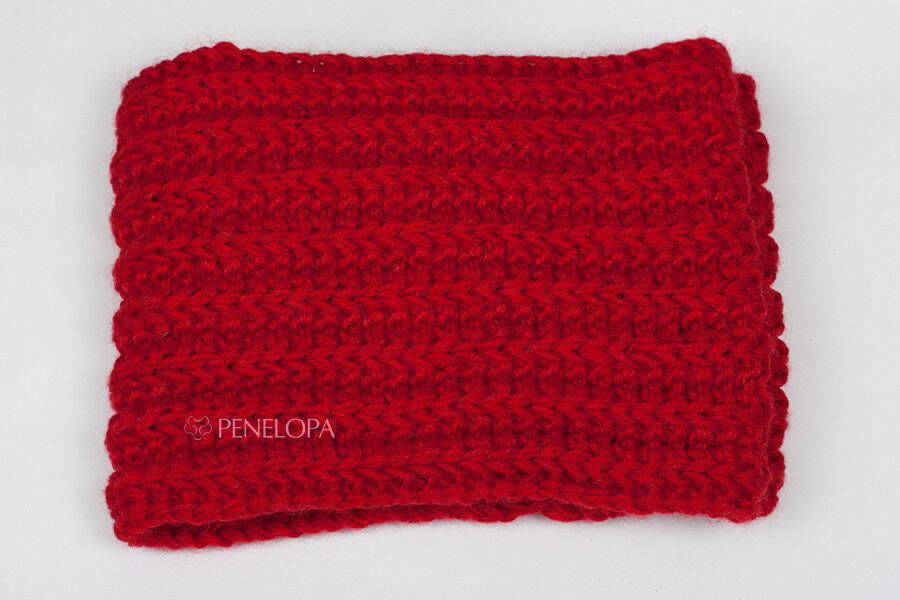 Шарф и платок PENELOPA Красный шарф-снуд в два оборота M65 - фото 3