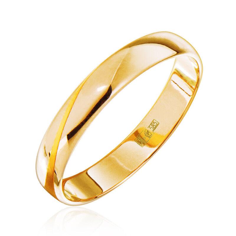 Ювелирный салон Jeweller Karat Кольцо обручальное золотое ширина 3,5 мм арт. 1131835 - фото 1
