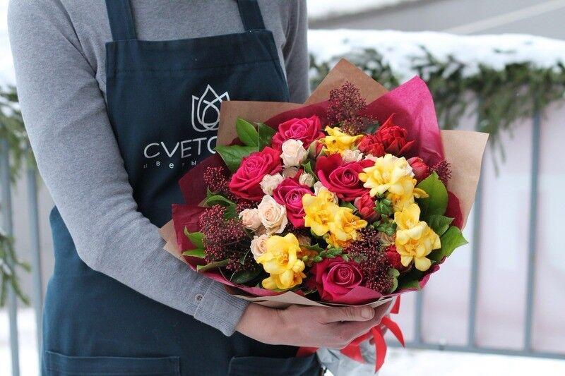 Магазин цветов Cvetok.by Букет «Яркая зима» - фото 2
