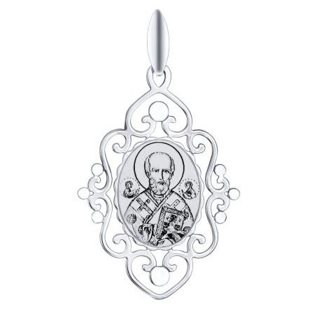 Ювелирный салон Sokolov Серебряная иконка «Святитель архиепископ Николай Чудотворец» 94100257 - фото 1