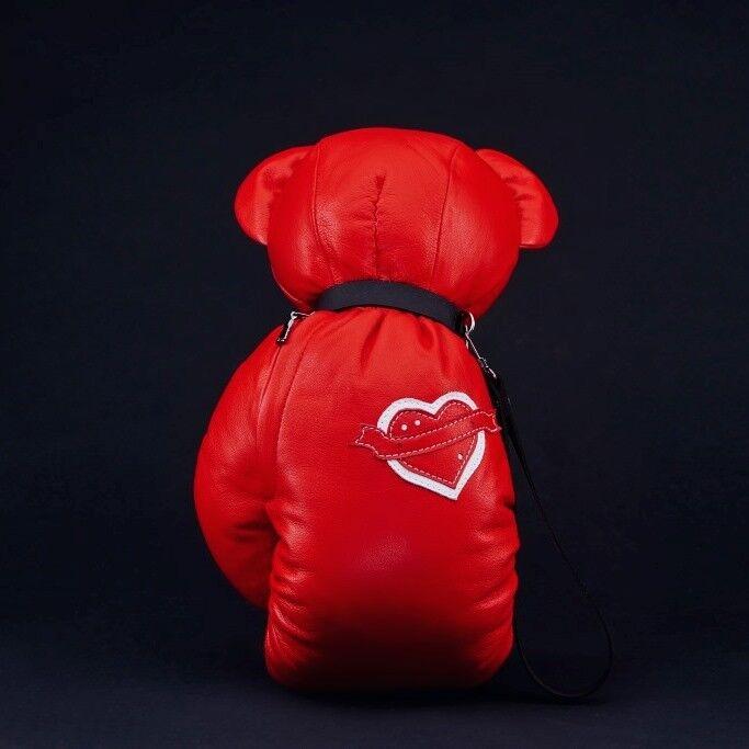 Магазин сумок IVAN AIPLATOV Сувенир-клатч Teddy Bear, красно-белый - фото 2