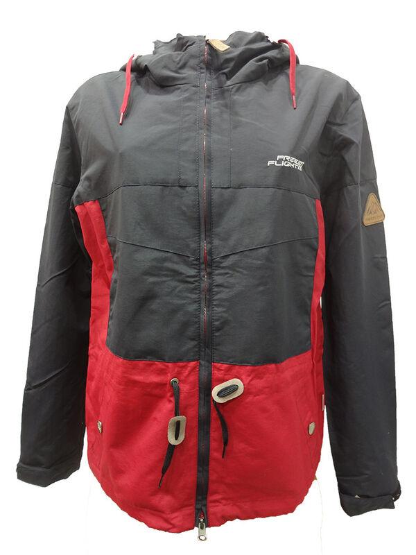 Спортивная одежда Free Flight Женская ветровка красно-серая - фото 1
