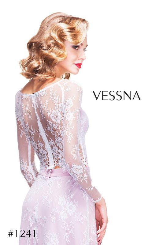 Вечернее платье Vessna Топ кружевной и Юбка длинная арт.1241 из коллекции VESSNA NEW - фото 2