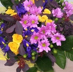 Магазин цветов Прекрасная садовница Букет из кустовой розы и хризантемы - фото 1