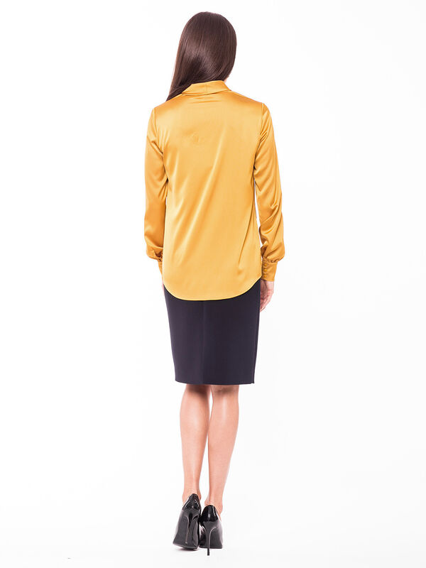 Кофта, блузка, футболка женская L'AF Блузка Evel 13CL (чёрная) - фото 2