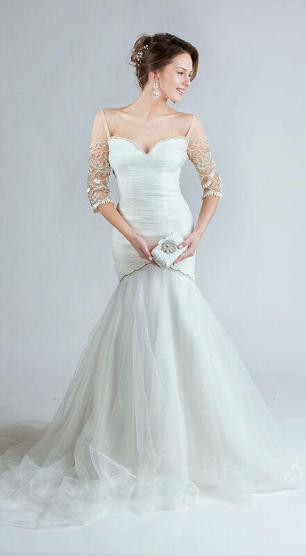 Свадебное платье напрокат Tarik Ediz Свадебное платье «Рыбка» - фото 1