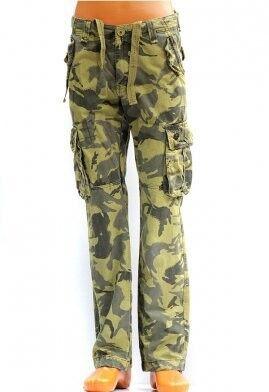 Спортивная одежда TBJ Брюки милитари карго зеленый камуфляж - фото 1