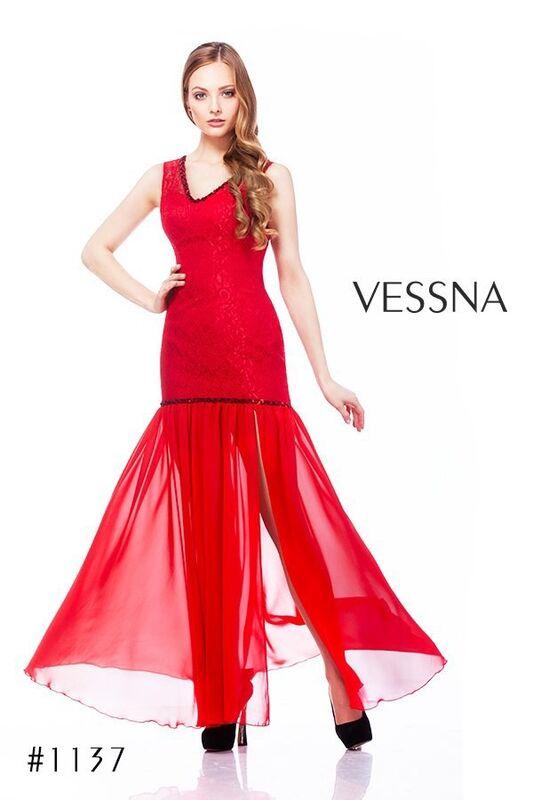 Вечернее платье Vessna Вечернее платье арт.1137 из коллекции vol.1 & vol.2 & vol.3 - фото 1