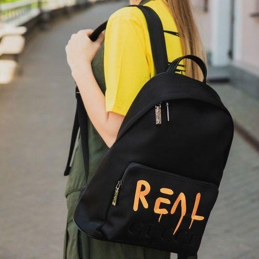 Магазин сумок It's me! (Это Я!) Черный рюкзак - фото 1