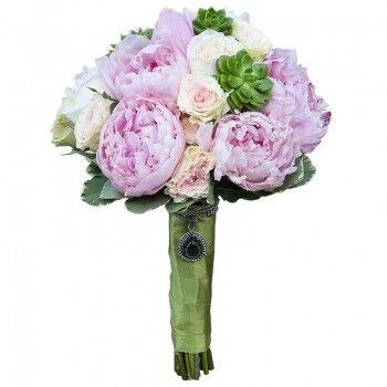 Магазин цветов Ветка сакуры Свадебный букет № 104 - фото 1
