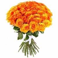 Магазин цветов Ветка сакуры Букет из роз № 25 (41 роза) - фото 1