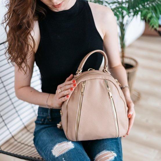 Магазин сумок Vezze Кожаный женский рюкзак C00511 - фото 1