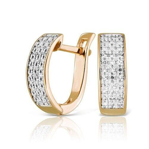 Ювелирный салон Jeweller Karat Серьги золотые с бриллиантами арт. 1224512 - фото 1
