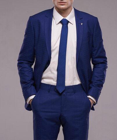 Костюм мужской Fabio Cassel Мужской костюм, цвет: ультрамарин, клетка (F2) - фото 1