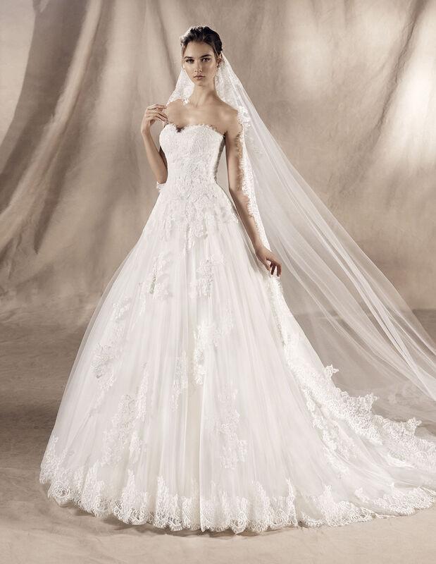 Свадебное платье напрокат White One (Pronovias) Свадебное платье Jadir - фото 1