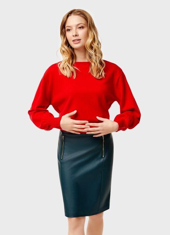 Кофта, блузка, футболка женская O'stin Укороченный джемпер LK4U12-16 - фото 1