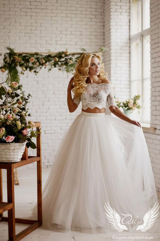 Свадебный салон ALIZA Свадебное платье «Emmira» Soffito - фото 1