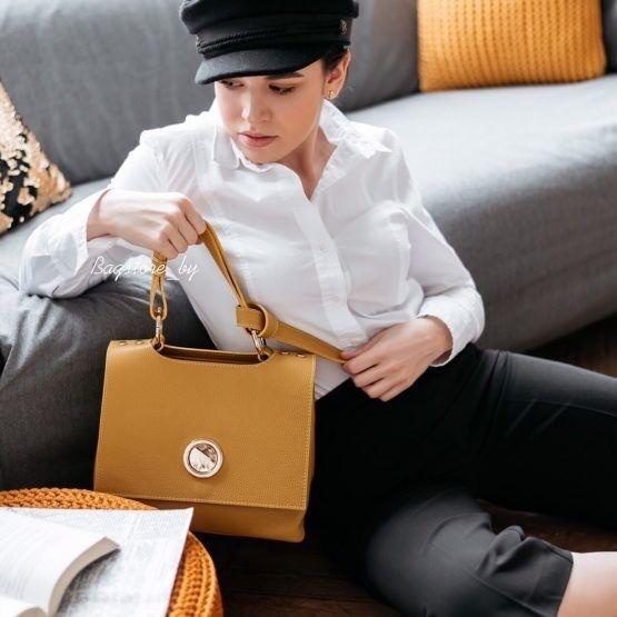 Магазин сумок Vezze Кожаная женская сумка C00471 - фото 4