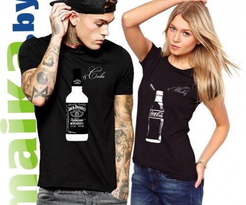 Подарок Maika.by Парные футболки «Виски & Кола», комплект - фото 2