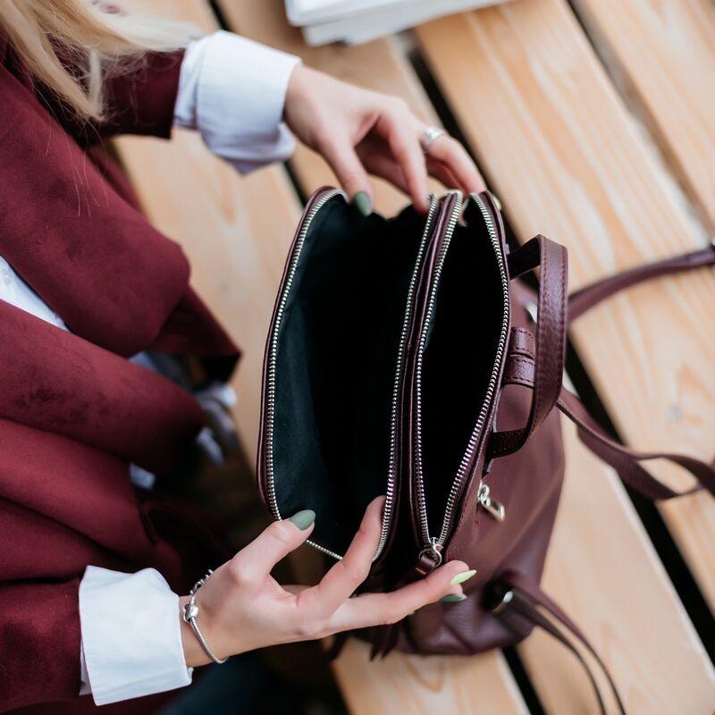 Магазин сумок Vezze Кожаный женский рюкзак C00546 - фото 3