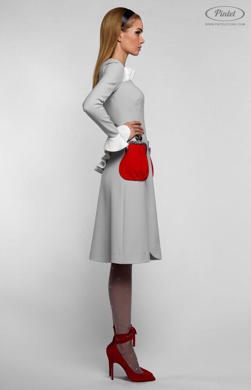Платье женское Pintel™ Приталенное платье с длинным рукавом Aleyna - фото 2