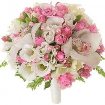 Магазин цветов Ветка сакуры Свадебный букет № 37 - фото 1