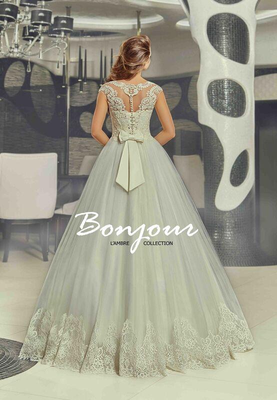 Свадебное платье напрокат Bonjour Платье свадебное «Nora» из коллекции LAMBRE 2017 - фото 2