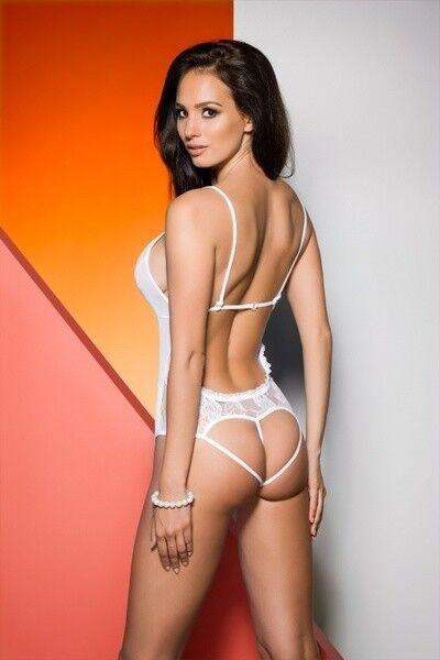 Интим-магазин Avanua Элегантное белое боди Jovita S/M арт. 5901720000000 - фото 2