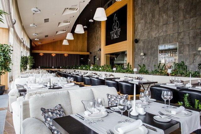 Ресторан и кафе на Новый год Wood & Fire Общий зал - фото 1
