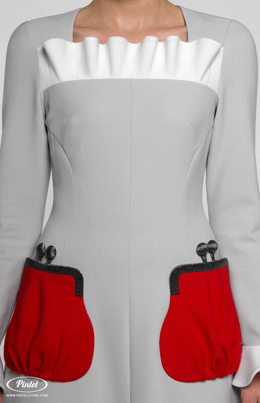 Платье женское Pintel™ Приталенное платье с длинным рукавом Aleyna - фото 3