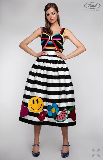 Платье женское Pintel™ Комплект из топа-бюстье и юбки Claire - фото 3