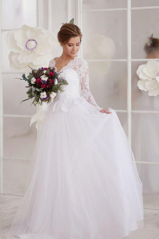 Свадебное платье напрокат ALIZA Платье свадебное «Kler» Soffito - фото 2
