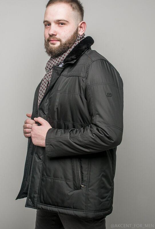 Верхняя одежда мужская AKCENT Куртка мужская с воротником - фото 2