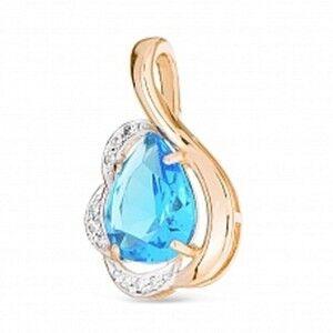 Ювелирный салон Jeweller Karat Подвеска золотая с бриллиантами и топазом арт. 1234763 - фото 1