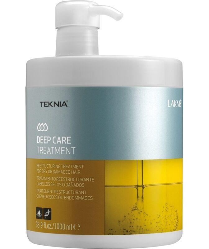 Уход за волосами Lakme Интенсивное восстанавливающее средство для сухих и поврежденных волос Teknia Deep Care Treatment 1000 мл - фото 1