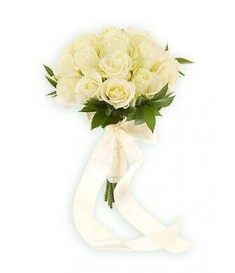Магазин цветов Фурор Букет из белых роз - фото 1