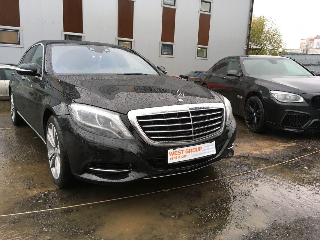 Аренда авто Mercedes-Benz W222 Лонг Черный - фото 2