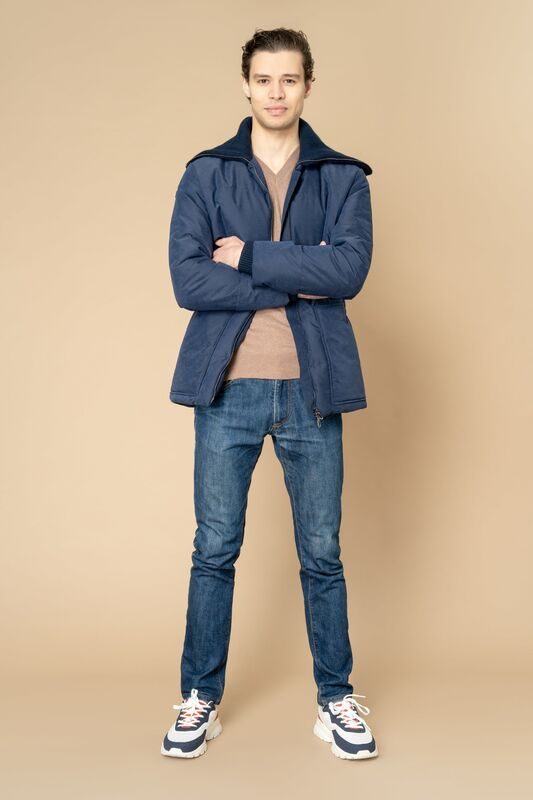 Верхняя одежда мужская Etelier Куртка мужская плащевая утепленная 4М-8523-1 - фото 3