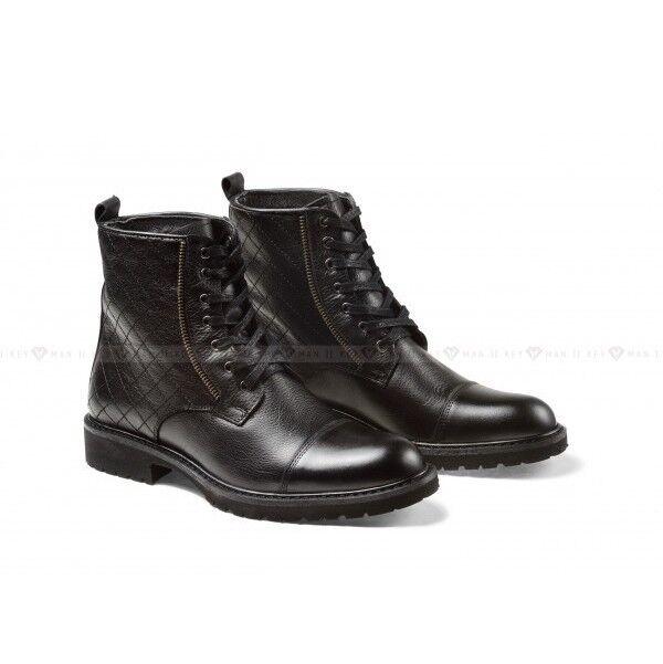 Обувь мужская Keyman Ботинки мужские черные кожаные со стеганым верхом - фото 1