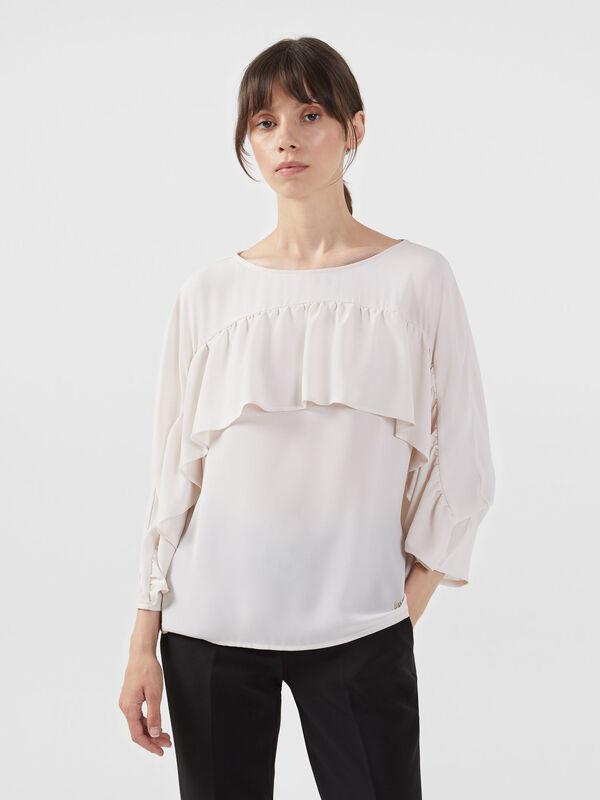 Кофта, блузка, футболка женская Trussardi Блузка женская 56C00218-1T002799 - фото 1