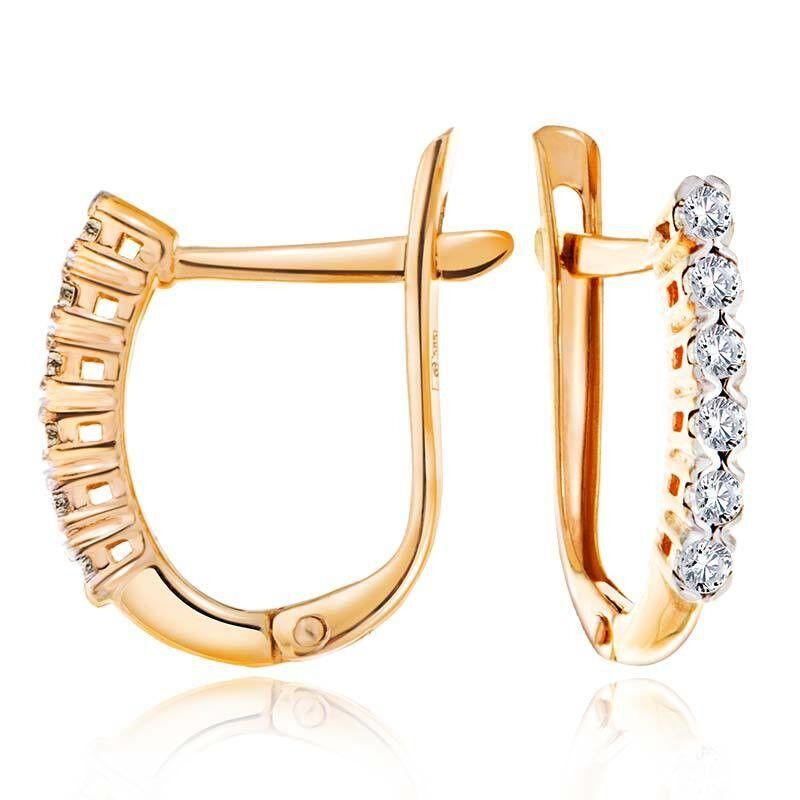 Ювелирный салон Jeweller Karat Серьги золотые с бриллиантами арт. 3226025/9 - фото 1