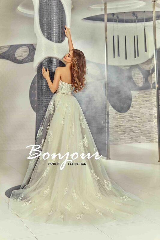 Свадебное платье напрокат Bonjour Платье свадебное «Olivia» из коллекции LAMBRE 2017 - фото 3