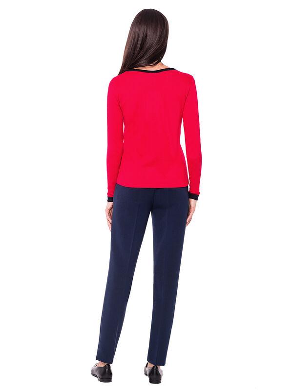 Кофта, блузка, футболка женская L'AF Блузка Claret D26I (красная) - фото 2