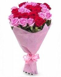 Магазин цветов Ветка сакуры Букет из роз № 20 (27 роза) - фото 1