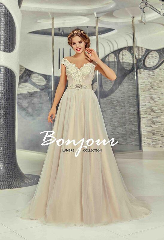 Свадебное платье напрокат Bonjour Платье свадебное «Martina» из коллекции LAMBRE 2017 - фото 1