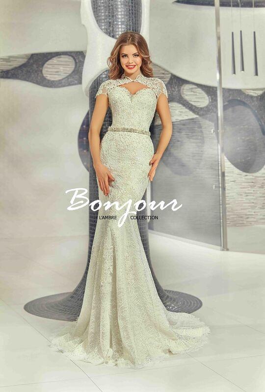 Свадебное платье напрокат Bonjour Платье свадебное «Olivia» из коллекции LAMBRE 2017 - фото 5