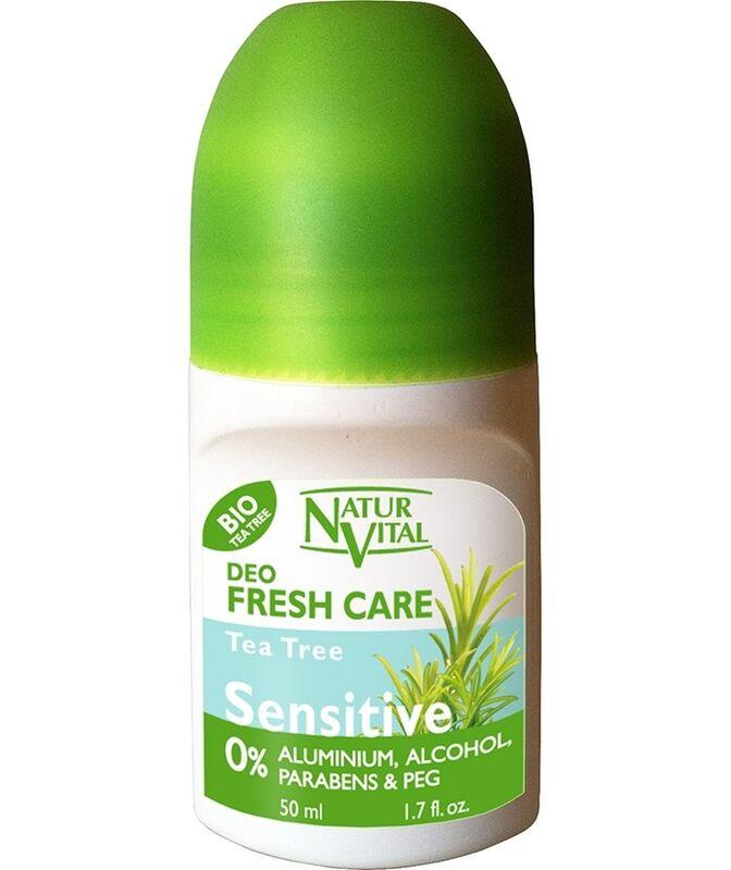 Уход за телом Natur Vital Роликовый дезодорант для чувствительной кожи с чайным деревом Roll-on Sensitive Deodorant Tea Tree - фото 1