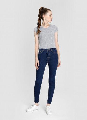 Брюки женские O'STIN Базовые суперузкие джинсы с высокой посадкой LPD109-D3 - фото 5