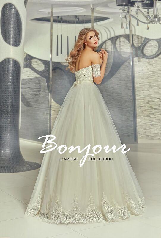 Свадебное платье напрокат Bonjour Платье свадебное «Gvennit» из коллекции LAMBRE 2017 - фото 2